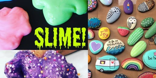 6.26 Slime Wednesday 1:00pm (and painted rocks, too) with Angela