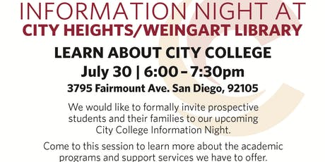 City College Information Night - July tickets
