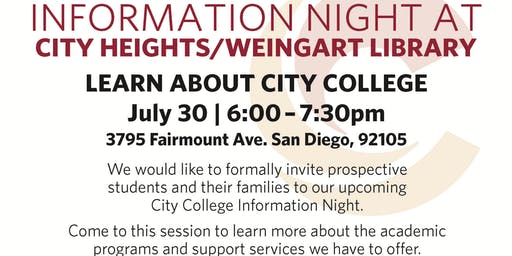 City College Information Night - July