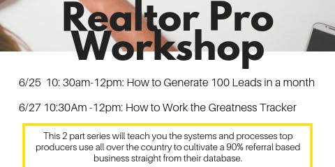 The Realtor Pro Shop Series, How to generate 100 leads in a month Part 1