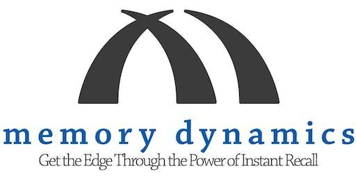Memory Dynamics 2-Day Memory Seminar (September 18th & 19th, 2019)