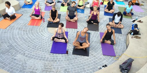 Fun before Flicks: Free Outdoor Yoga Practice with YogaWorks