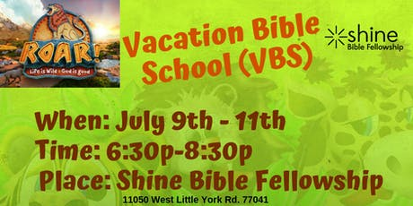 Vacation Bible School @Shine tickets