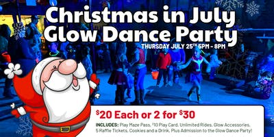 Christmas in July Glow Dance Party!