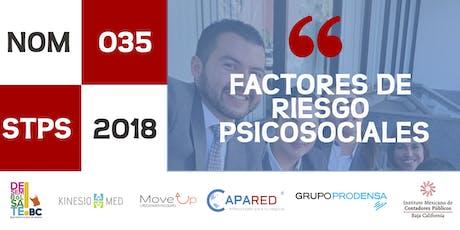NOM-035-STPS-2018 Factores de Riesgo Psicosociales entradas