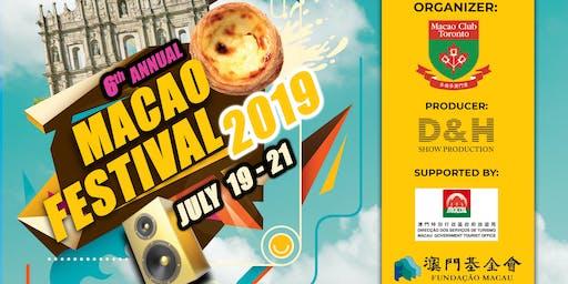 6th ANNUAL MACAO FESTIVAL 2019
