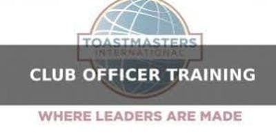 Toastmasters District 39 Club Officer Training