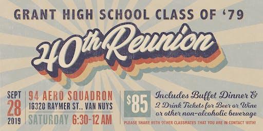 Grant High Class of 1979 40th High School Reunion