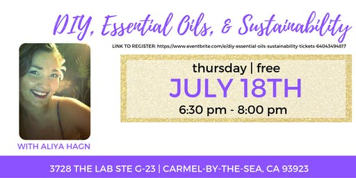 DIY, Essential Oils, & Sustainability