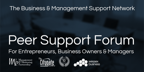Business & Management Peer Support Forum - 24th September 2019 tickets