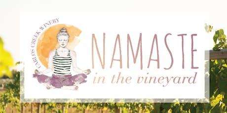 Namaste in the Vineyard tickets
