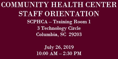SCPHCA Community Health Center Staff Orientation and Training