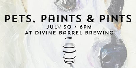 Pets, Paints & Pints at Divine Barrel Brewing tickets