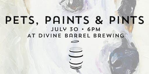 Pets, Paints & Pints at Divine Barrel Brewing