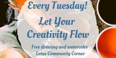 Let Your Creativity Flow (Free Drawing and Watercolor Corner) tickets