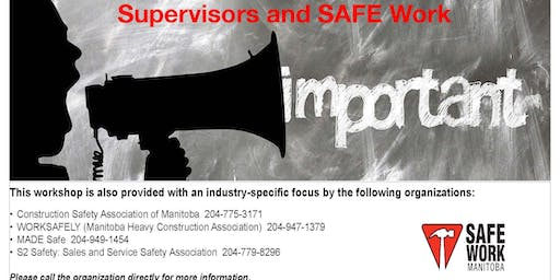 Supervisors and SAFE Work - Dauphin, MB