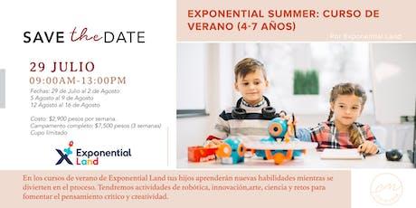 Exponential Summer: Curso de Verano (4-7 años) entradas