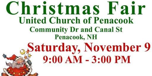 Christmas Craft Fair on November 9, Penacook