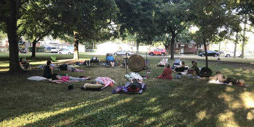 Outdoor Summer Gong Meditations Clawson Park