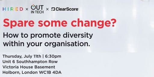 Out in Tech London | Spare Some Change?