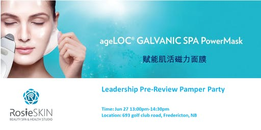ageLoc Galvanic SPA Power Mask - Leadership Pre-Review Pamper Party