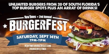 2019 Miami New Times' Burgerfest tickets