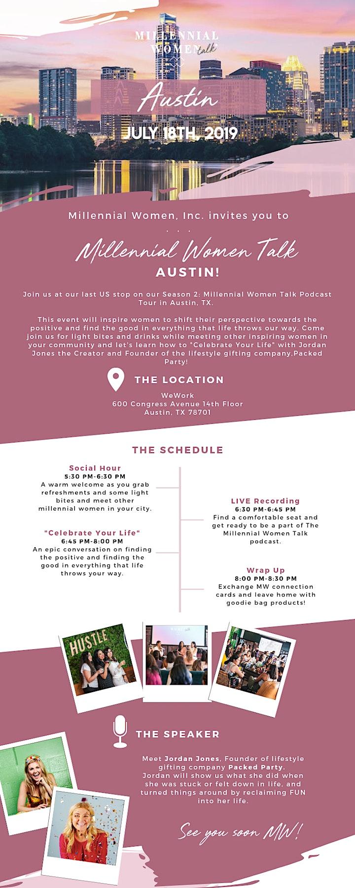 Millennial Women Talk, a LIVE podcast + meet-up in Austin, TX! image
