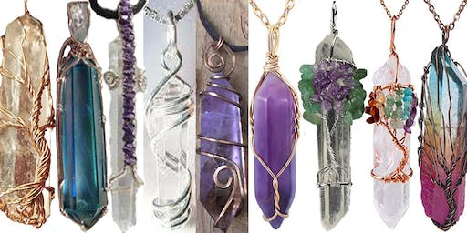 July 28 Crystal Point Wire Wrapping Class with Marggi at Ipso Facto