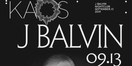 9.13 J Balvin @ KAOS Nightclub Las Vegas tickets