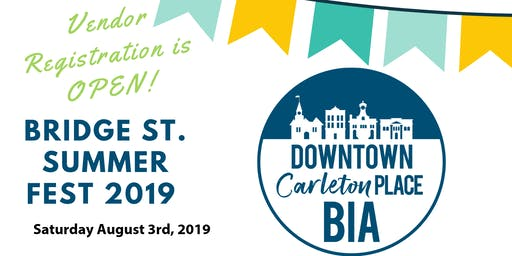 Bridge St. Summer Fest 2019 Vendor Registation