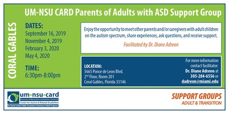 UM-NSU CARD Parents of Adults with ASD Support Group tickets