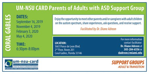 UM-NSU CARD Parents of Adults with ASD Support Group