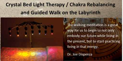 Guided Walking Meditation and Chakra Aligning Crystal Bed open