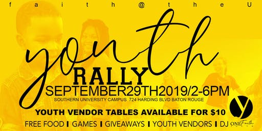 Youth Rally Vendors
