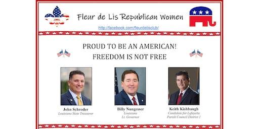 Fleur de Lis Rep Women July meeting