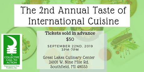 2nd Annual Taste of International Cuisine tickets