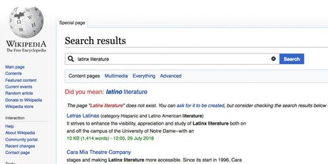 Wikipedia Edit-A-Thon for Latinx & Latin American Literature tickets