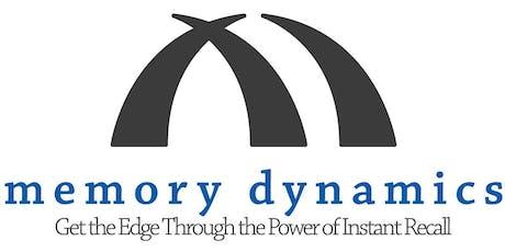 Memory Dynamics 2-Day Memory Seminar (September 18th and 19th, 2019) tickets