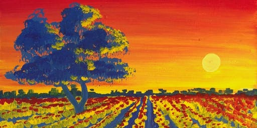 Sunset Vine Paint & Wine