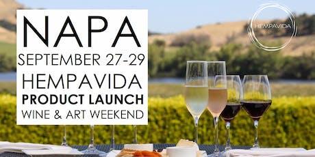 NAPA HEMPAVIDA PRODUCT LAUNCH WINE & ART WEEKEND tickets
