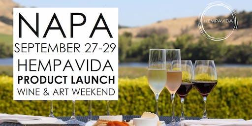 NAPA HEMPAVIDA PRODUCT LAUNCH WINE & ART WEEKEND