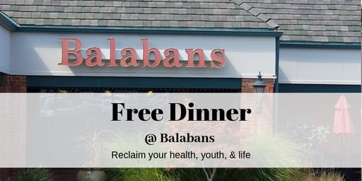 FREE Dinner @ Balaban's -  Stress, Hormones, and Health Event