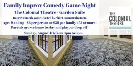 Family Improv Game Night at The Colonial tickets