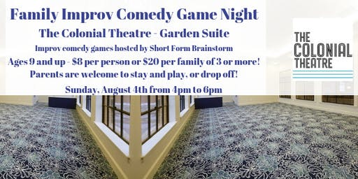 Family Improv Game Night at The Colonial