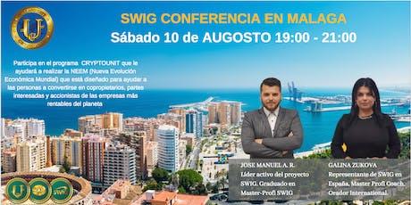 Te invitamos a nuestro evento de SWIG y STO CRYPTOUNIT en MALAGA entradas