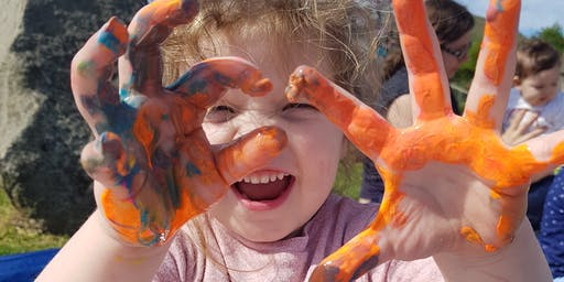 Outdoor Messy Play Fun. Fun Summer Session For Children 6mths+.