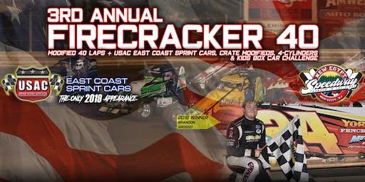3rd Annual Firecracker 40