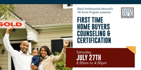 First Time Home Buyers Counseling and Certification tickets