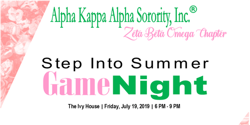 Step Into Summer Game Night
