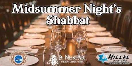 Midsummer Night's Shabbat tickets